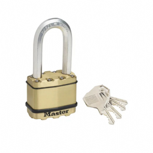Master Lock M5BEURDLH Excell Brass Finish 50mm Padlock - 51mm Shackle